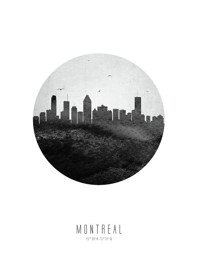 Montreal Digital Art - Montreal Skyline Caqcmo04 by Aged Pixel