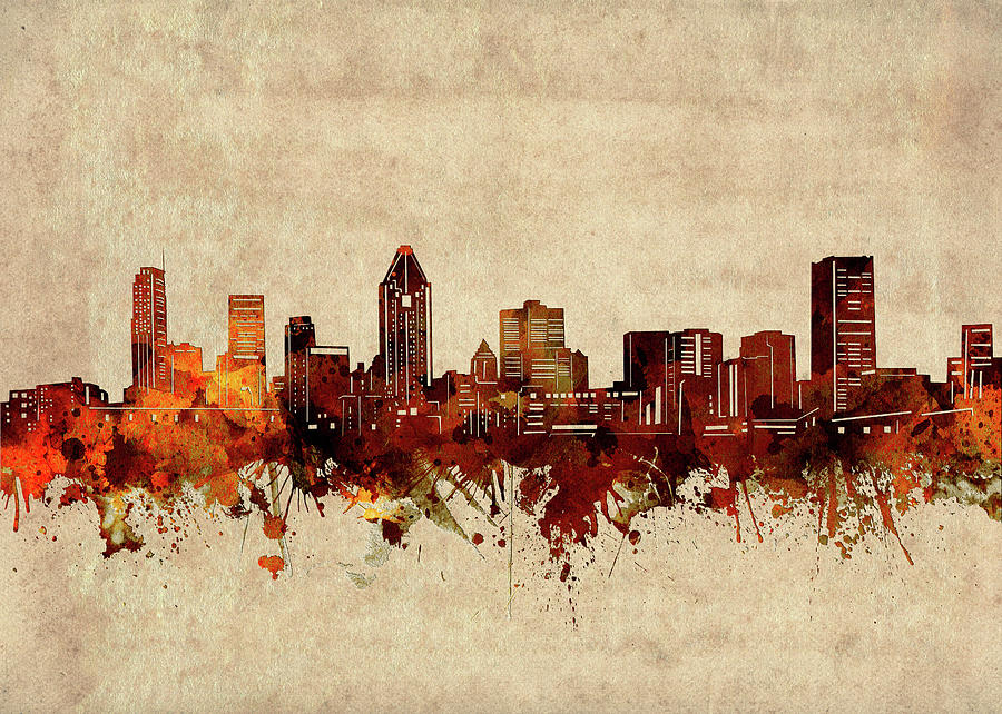 Montreal Digital Art - Montreal Skyline Sepia by Bekim M