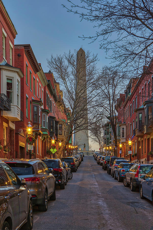 Monument Avenue Charlestown Massachusetts by Juergen Roth
