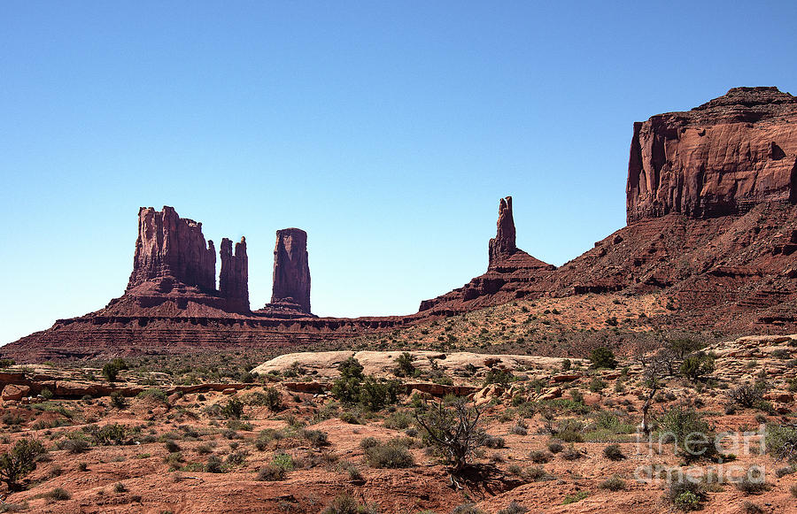 Monument Valley Photograph - Monument Cluster by Mae Wertz