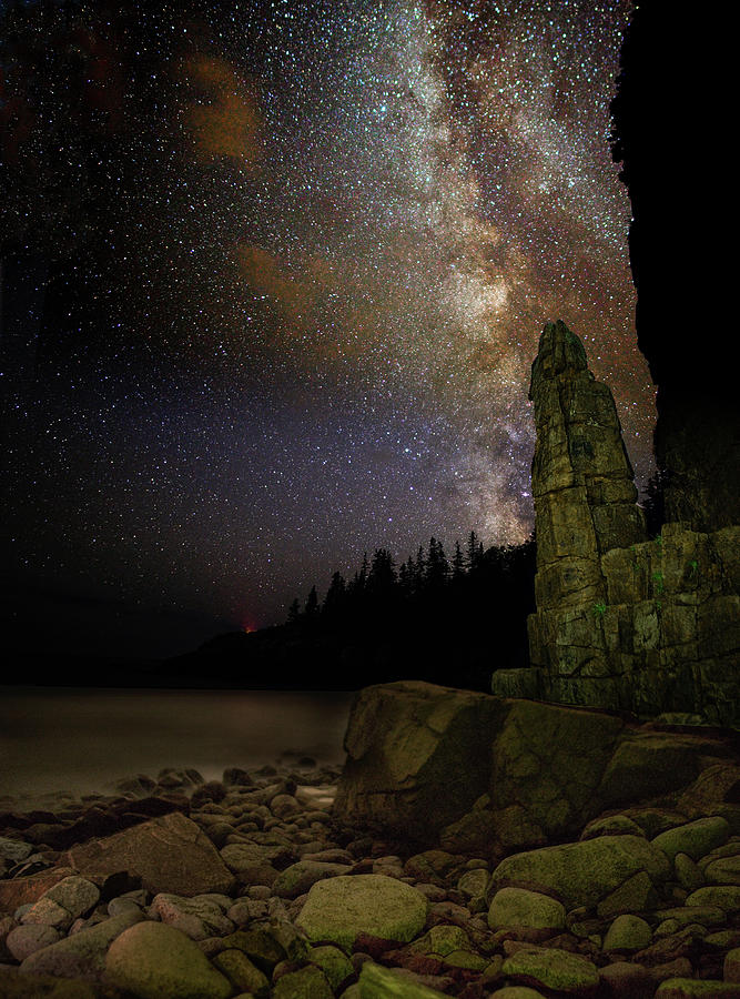 Monument Cove Under the Milky Way by Brent L Ander