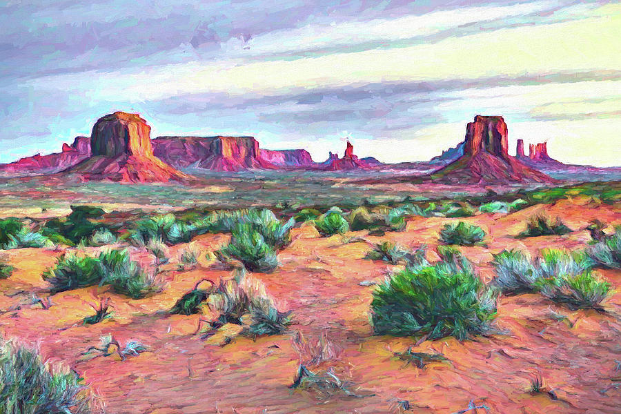 Monument Morning by Fine Art Western Paintings