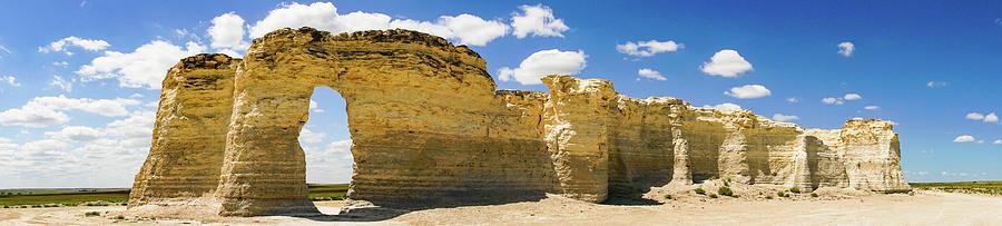 Monument Rocks Kansas Panorama 1 by Lawrence S Richardson Jr