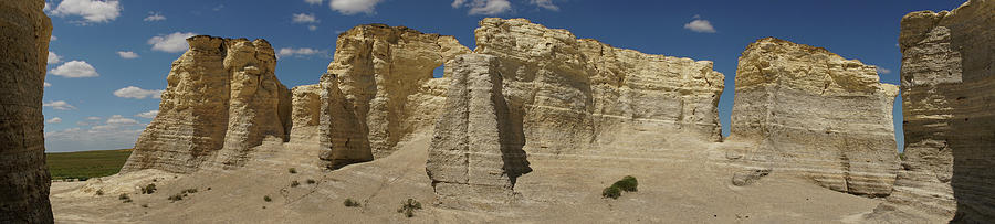 Monument Rocks Kansas Panorama 3 by Lawrence S Richardson Jr