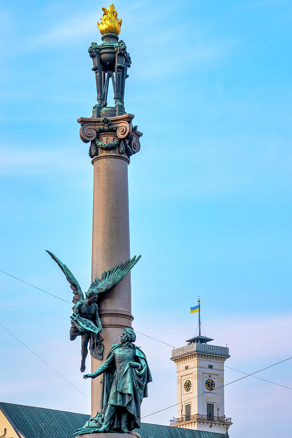 Monument to Adam Mickiewicz by Fabrizio Troiani