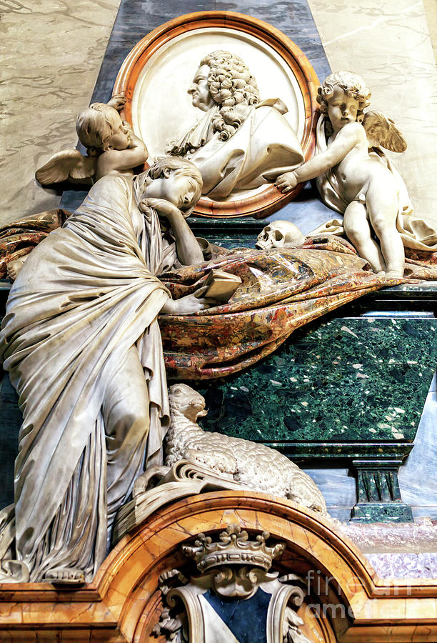 Monument to Alessandro Gregorio Capponi at San Giovanni dei Fiorentini in Rome by John Rizzuto