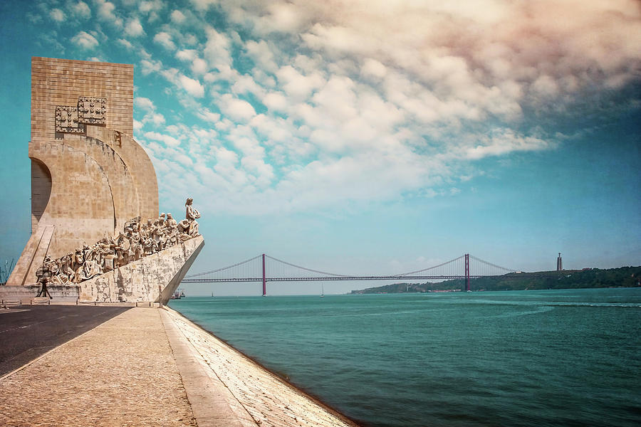 Monument To The Discoveries Lisbon Portugal by Carol Japp