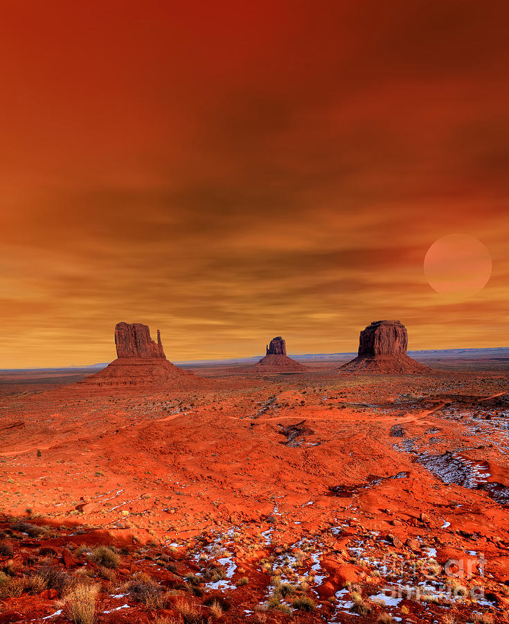 Southwest Photograph - Monument Valley Arizona With Evening by Paul B. Moore