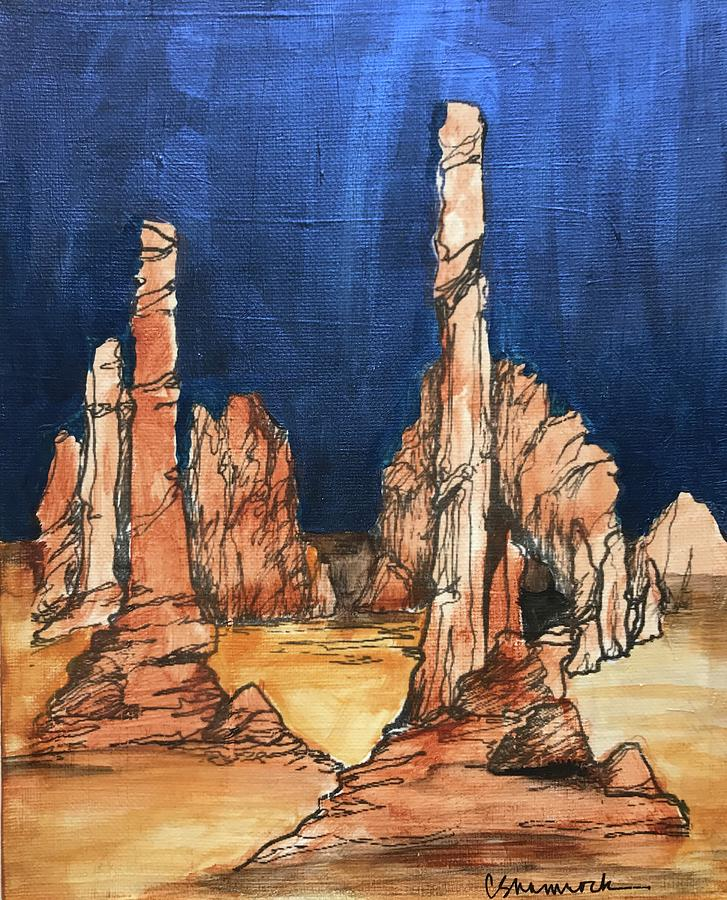 Monument Valley Mixed Media - Monument Valley by Carol Shamrock