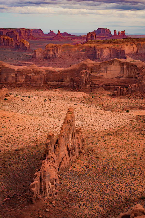 Monument Valley from Hunt's Mesa by William Christiansen