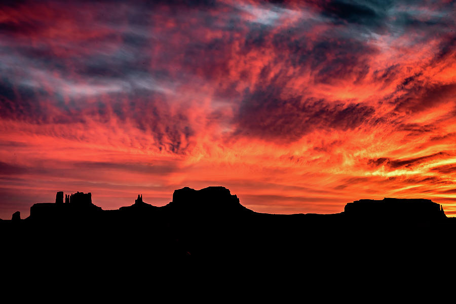 Monument Valley Mile 13 Sunset by William Christiansen