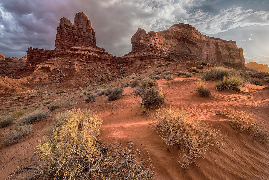 Monument Valley Sand Dune and Rocks by Dave Dilli