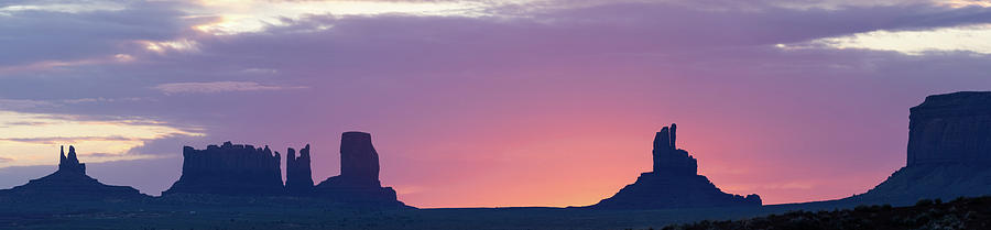 Monument Valley Sunrise Panorama by Dalibor Hanzal