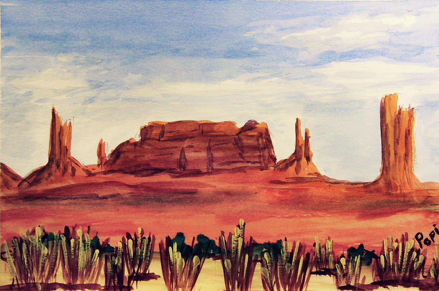 Monument Valley View by Paul Anderson