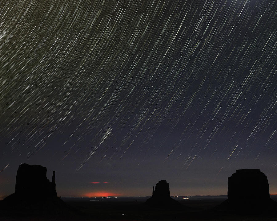 Stack Photograph - Monumental Star Trails by Mike Herdering