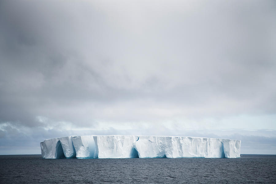 Moody Antartica With Iceberg Photograph by Mlenny
