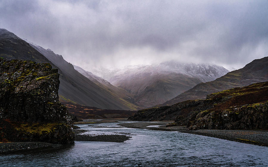 Iceland Photograph - Moody Canyon by Framing Places