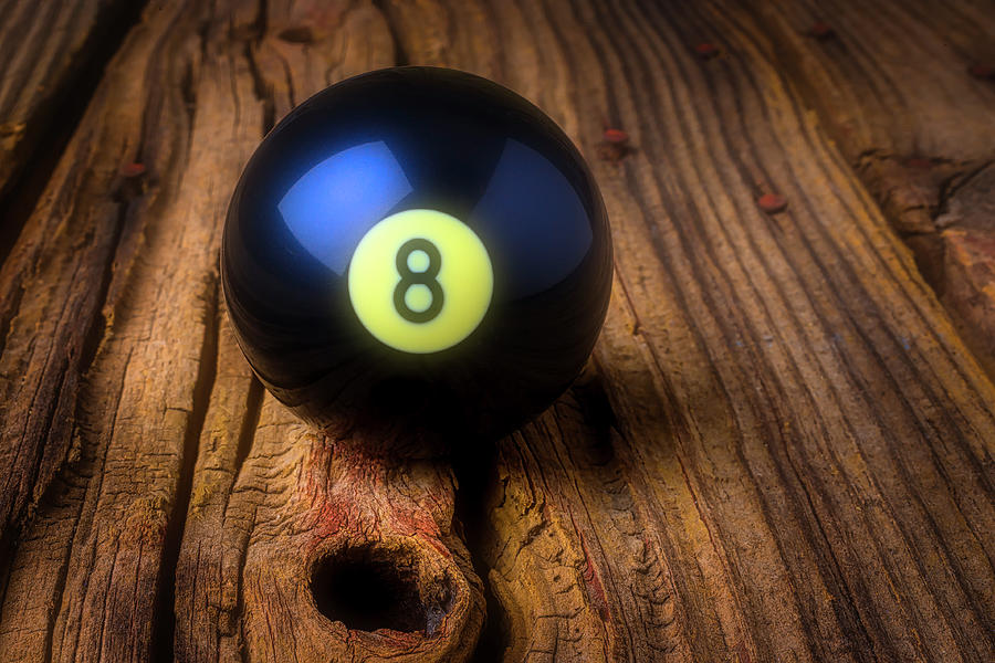 Eight Photograph - Moody Eight Ball by Garry Gay