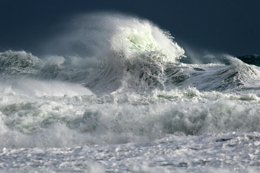 Water Photograph - Moody Ocean by Stelios Kleanthous