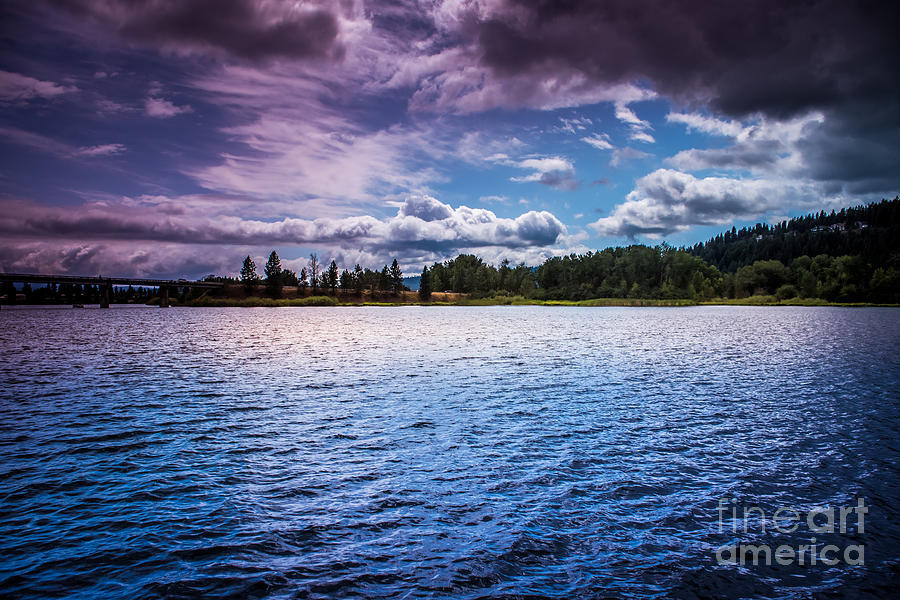 Moody Skies Over the Spokane River by Matthew Nelson