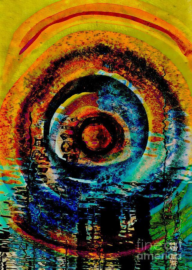 Moon abstract by Jolanta Anna Karolska