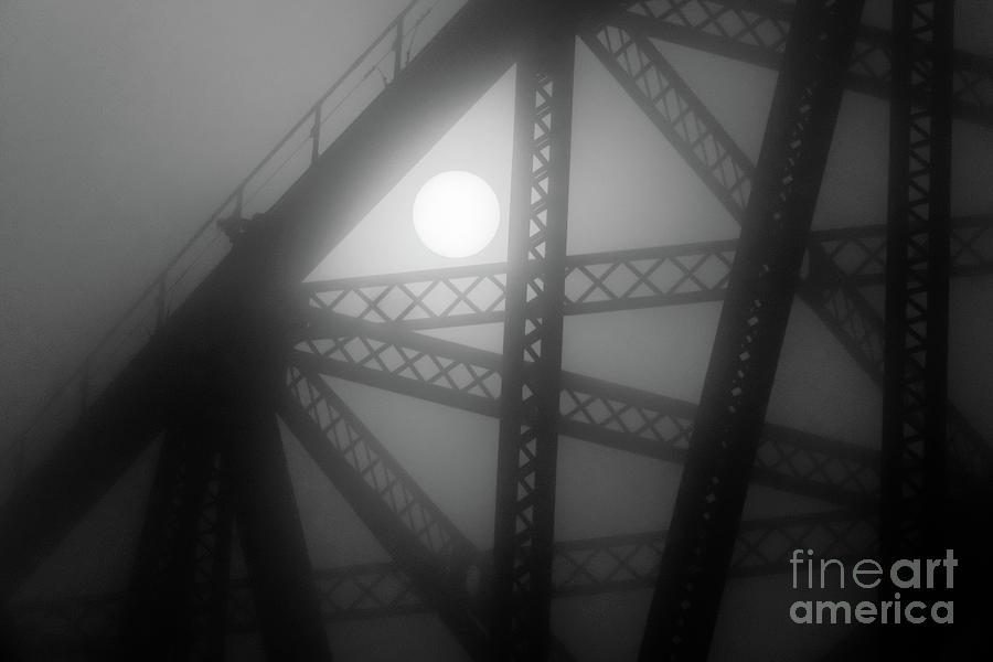 Moon and Bridge by Randy J Heath