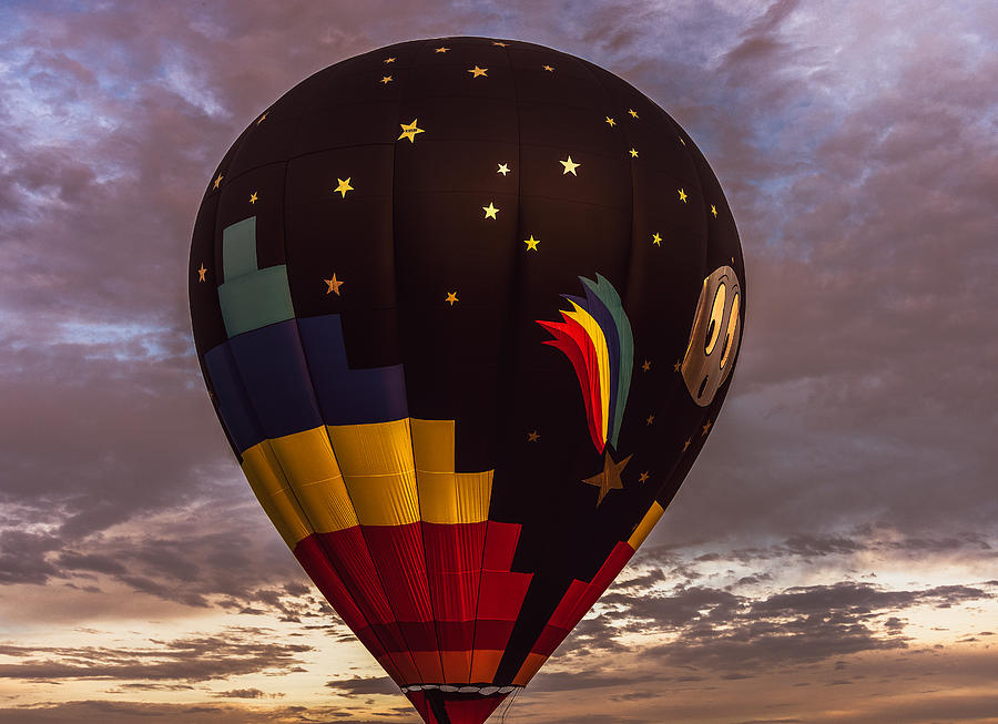 Moon and Stars Hot Air Balloon by Keith Smith