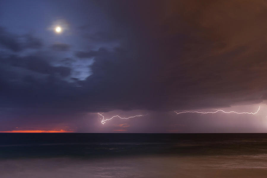 Moon and Thunderstorm by Cliff Wassmann