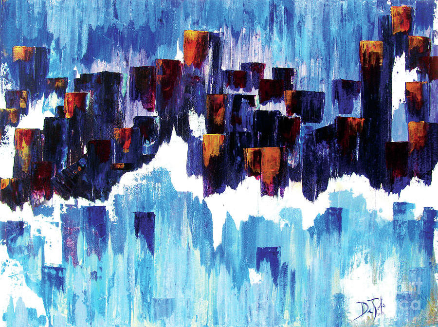 Abstract Painting - Moon Dance by JoAnn DePolo