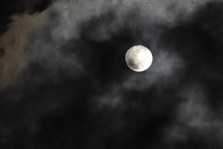 Moon Photograph - Moon In The Still Of The Night by Jason Denis