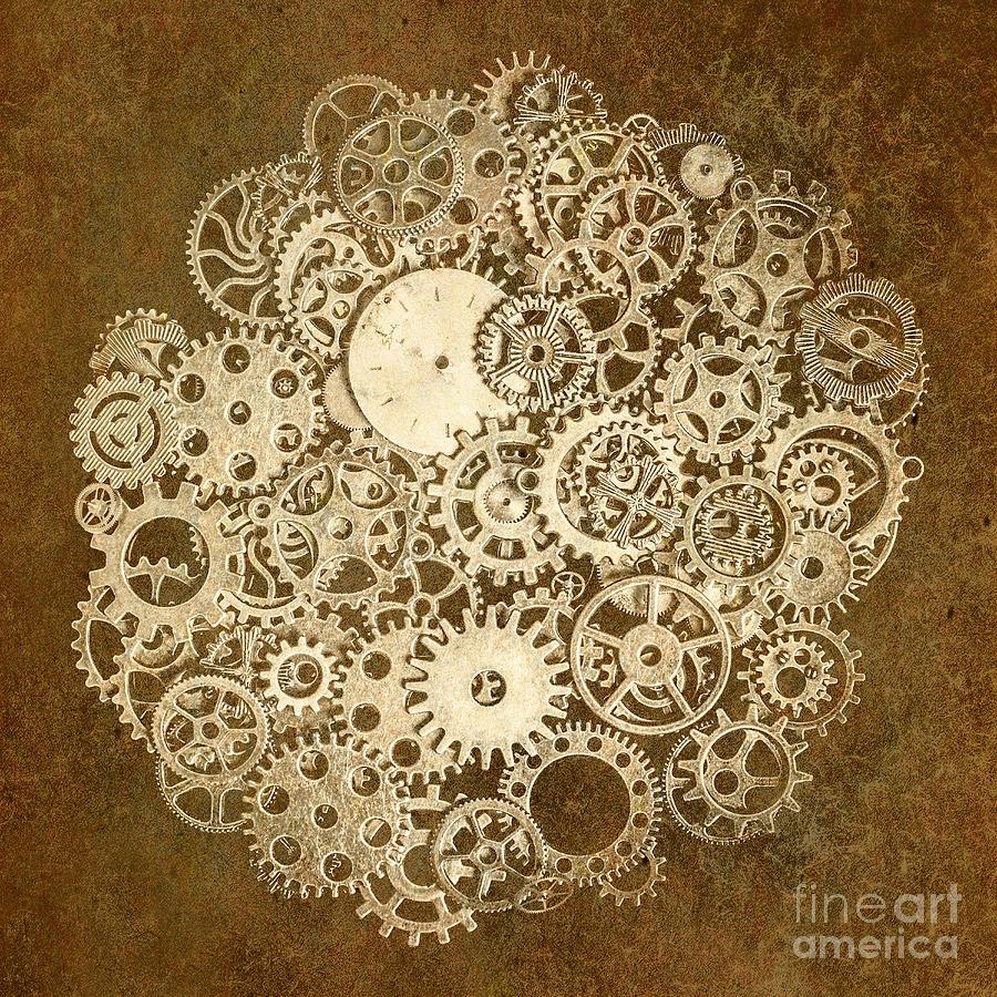 Industrial Photograph - Moon Mechanics by Jorgo Photography - Wall Art Gallery