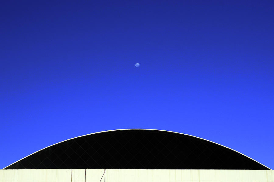 Moon On A Clear Sky Photograph by C. Quandt Photography