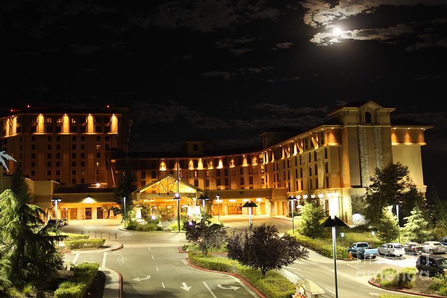 Moon Over Chukchansi Casino Photograph By Michael Shores