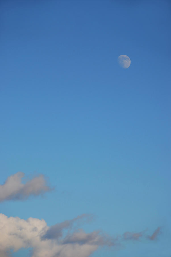 Moon over cloud by Kathleen Gauthier