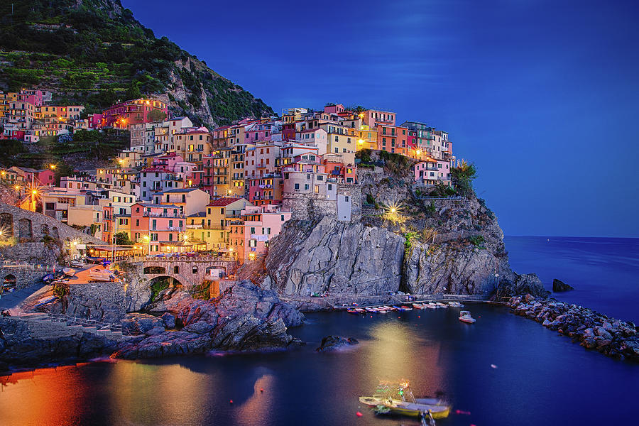 Moon over Manarola by Raf Winterpacht