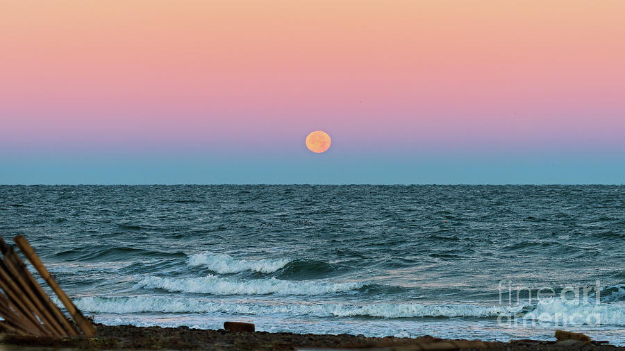 Moon Over Montauk by Sean Mills