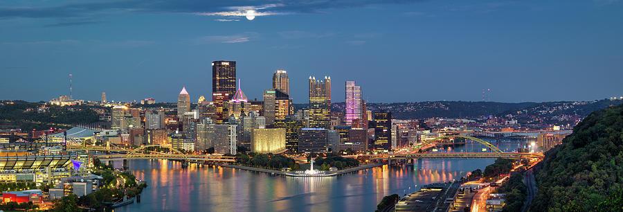 Moon Over Pittsburgh  by Emmanuel Panagiotakis