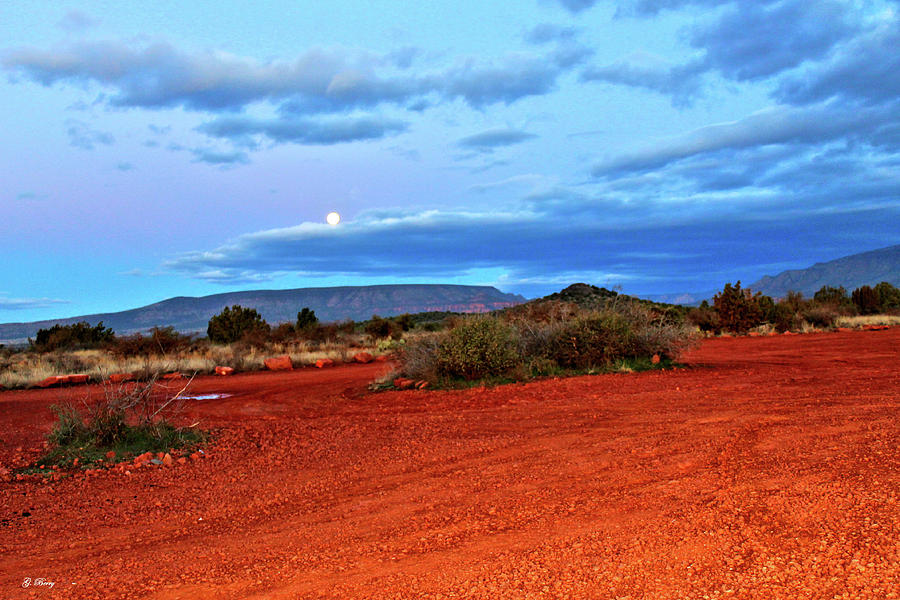 MOON OVER SEDONA 002 by G Berry