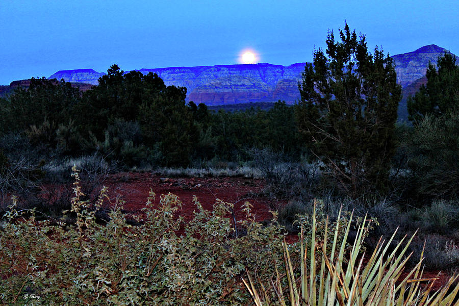 MOON OVER SEDONA  by G Berry