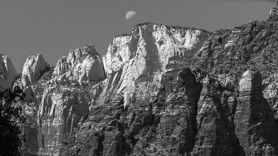 Painted Desert Photograph - Moon Over Zion by Joseph Smith
