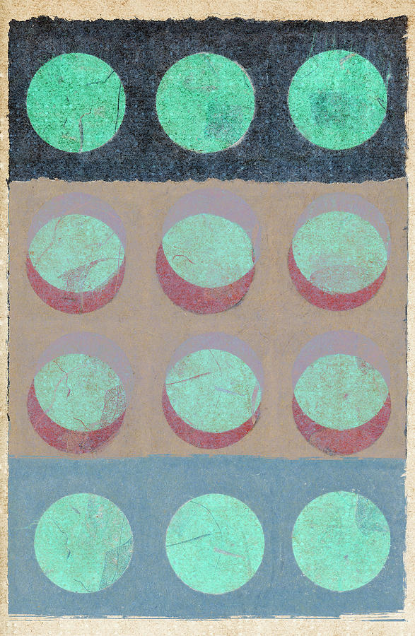 Moon Mixed Media - Moon Phases 1 by Carol Leigh