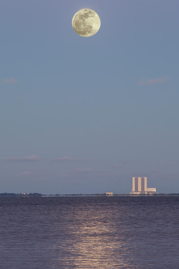 Moon Rise over NASA by Gordon Elwell