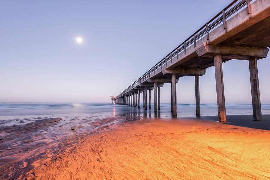 Moon Shines On Scripps by Joseph S Giacalone