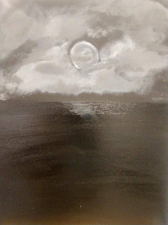 Moon Shines on the Water by April Clay