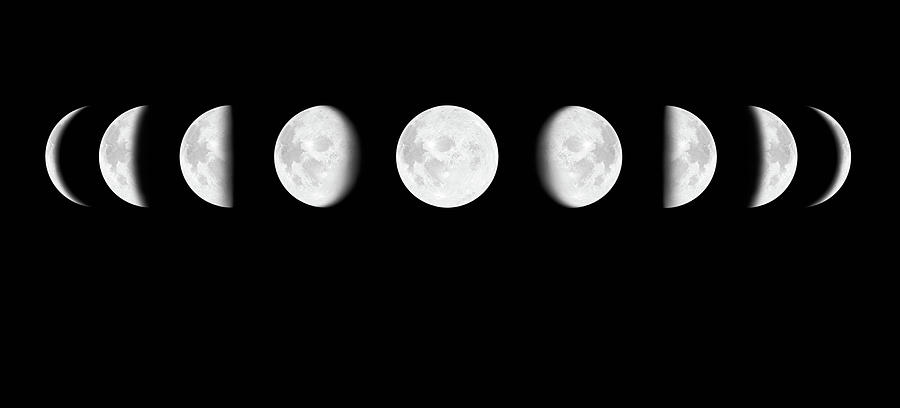 Moon Surface With Different Phases Xxxl Photograph by Cruphoto