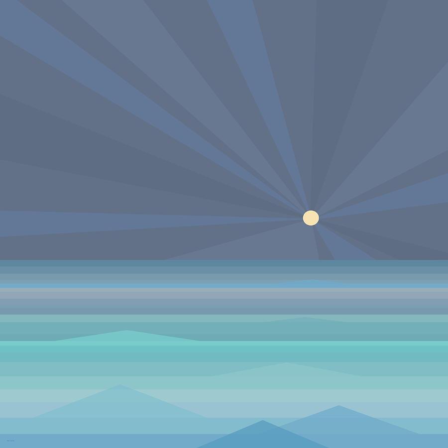 Moonbeams at Sea by Val Arie
