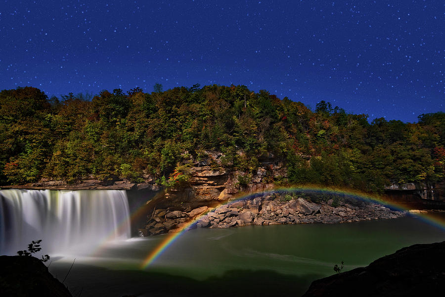Moonbow At Cumberland Falls by Jim Vallee