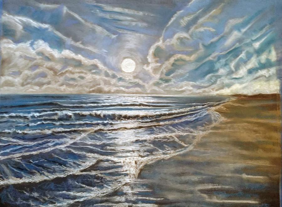 Full Moon Pastel - Moonlight Bay by Trish Bonnette