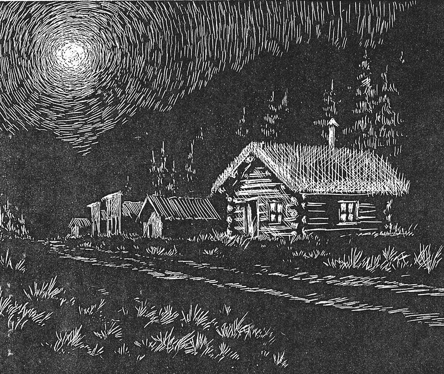 Moonlight Drawing - Moonlight by Kevin Heaney