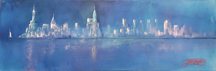 MOONLIGHT ON MANHATTAN  by Jack Diamond